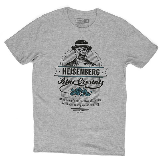Camiseta Camisa Séries Breaking Bad Heisenberg Blue Crystals