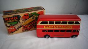Ônibus Carrinho Tri.ang Lata Ingles Brinquedo Antigo N°1