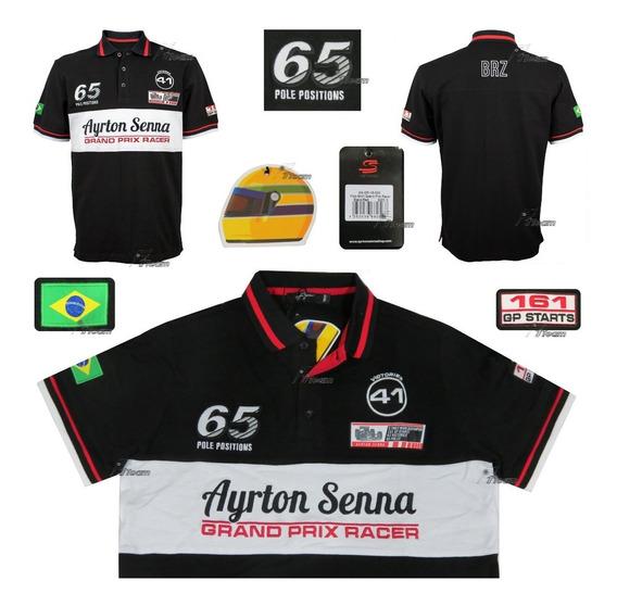 Polo Ayrton Senna Grand Prix Racer F1 Producto Autentico
