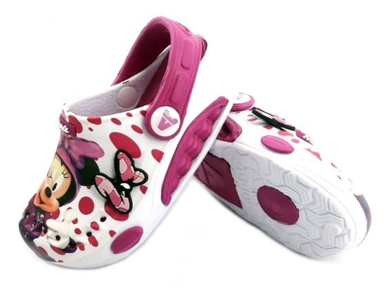 Sandalia Sueco Goma Addnice Baby Minnie Dots Niña Empo2000