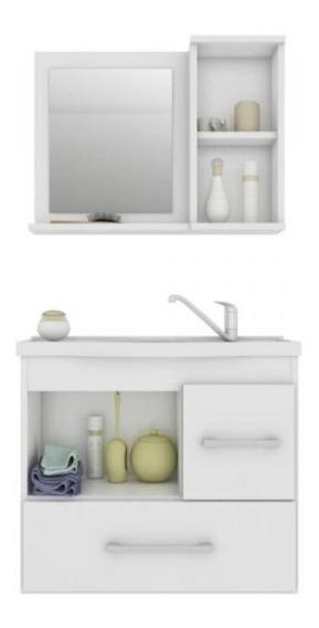 Gabinete Para Banheiro Fortaleza - Nunca Usado