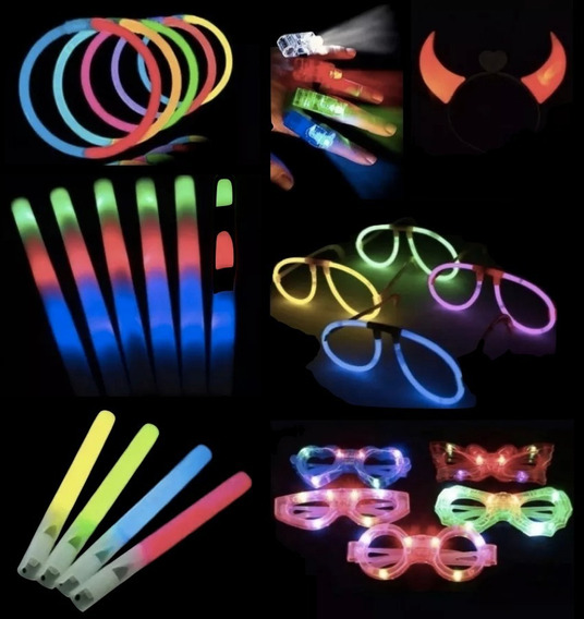Combo Cotillon Luminoso Led Neon 50 Personas