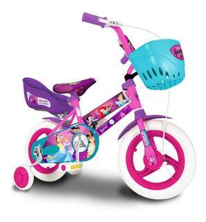 Bicicleta Rodado 12 Princesas Disney Licencial Oficial