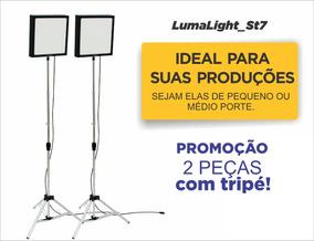 Kit 2 Pçs Iluminação Soft Box Painel Led Youtuber Vídeos