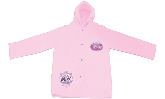 Capa Infantil De Chuva Princesas Disney Rosa Meninas P M G