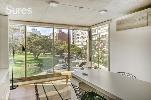 Monoambiente Equipado En Alquiler Para Oficina Con Vista Al Parque Villa Biarritz
