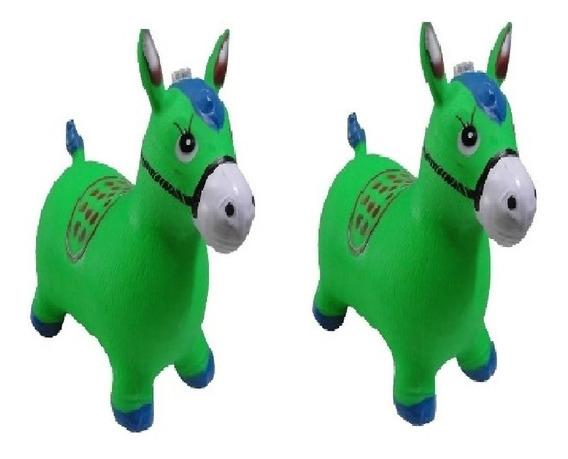 Kit 2 Brinquedo Cavalo De Borracha Upa Up Pula Pula Criança