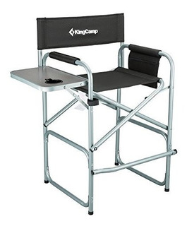 Kingcamp Tall Director Silla Plegable Con Mesa Lateral Porta