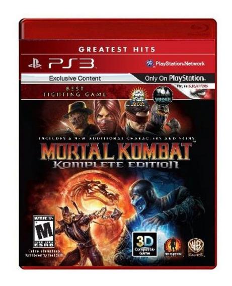 Jogo Mortal Kombat - Komplete Edition (novo) Ps3
