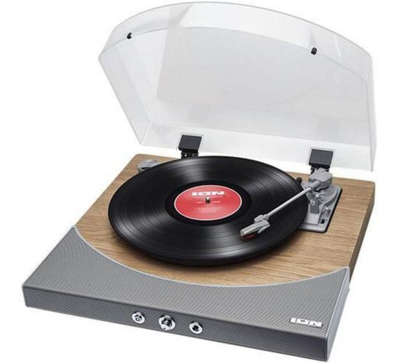 Toca Discos Vitrola Com Conversor Digital Mp3 Usb Pc Prata