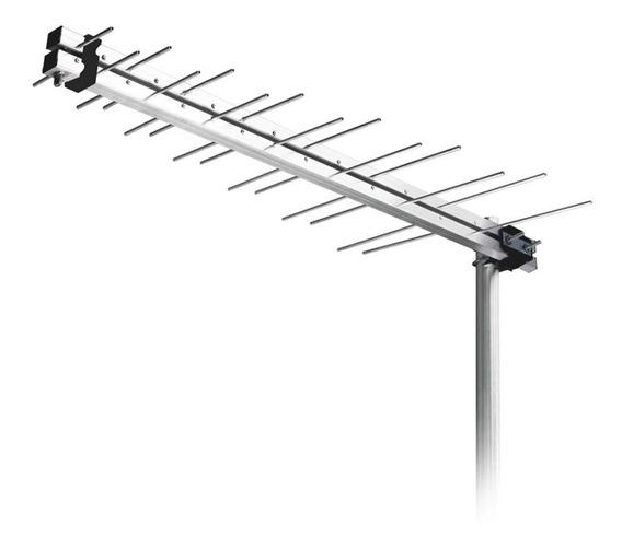 Antena Externa Log Periódica Uhf Hdtv Digital Aquário 14dbi