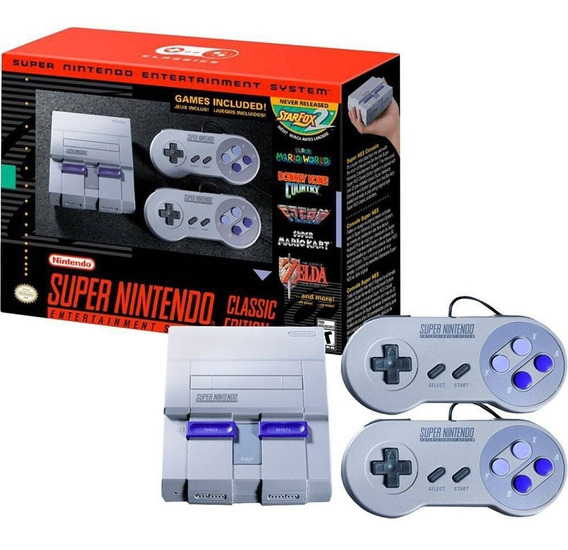 Inativo Console Super Nintendo Com 21 Jogos E 2 Controles