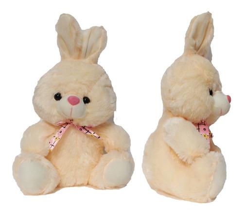Peluche Conejo Polietileno Con Sonido 37cm Aprox + Obsequio