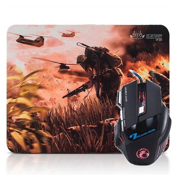 Kit Gamer Mouse + Mouse Pad