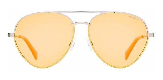 Óculos De Sol Polaroid Amarelo Pld6055/s Polarizado Aviador