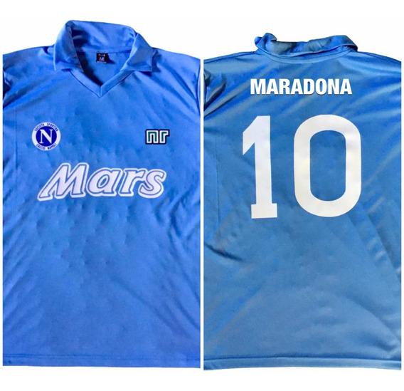 Camiseta Maradona Napoli Celeste Mars 89/90 Envio Gratis
