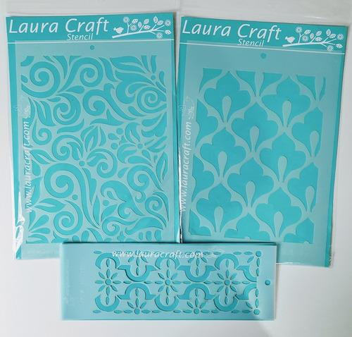 Stencil Laura Craft Set Fondos Mexicanos