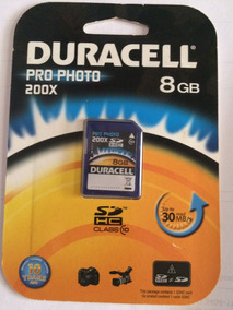 Cartões De Memória Duracell Pro Photo 200x Classe 10 8 Gb
