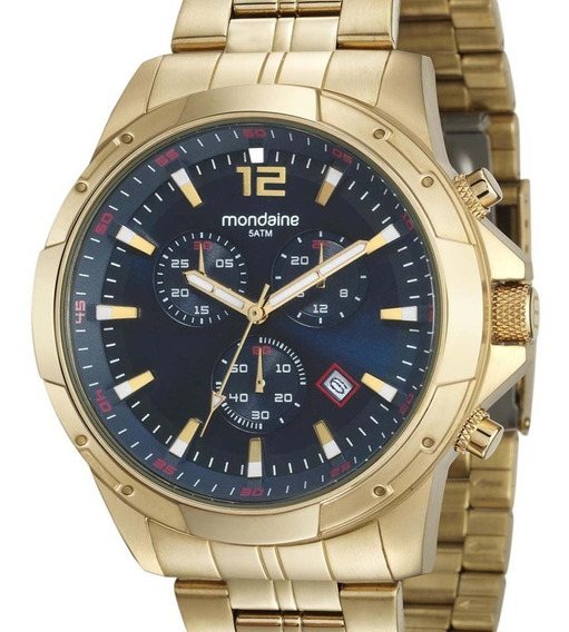 Relógio Mondaine Cronógrafo Masculino Dourado 99177gpmvda1
