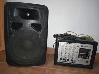 Parlante Moon Y Convertidor De Audio 4 Canales Topp Pro