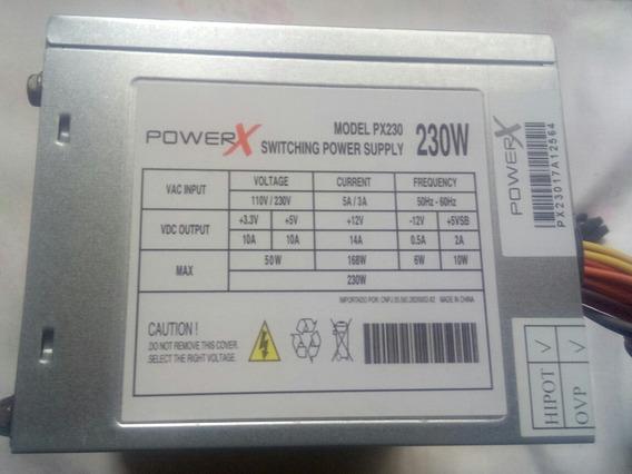 Fonte Para Computador Bivolt,powerx,modelo Px230,230w