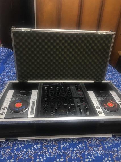 Par Cdjs 200 + Mixer Behringer -djx750+case Se Alumínio!