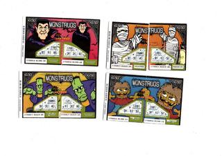 Lote Billetes Loteria Raspadita Monstruos//bichos