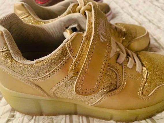 Zapatillas Con Ruedas Y Luces Importadas! Preciosas Talle 32