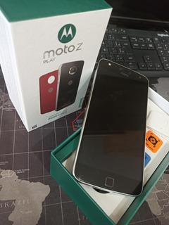 Celular Moto Z Play 32gb Preto Dual Sim - Em Ótimo Estado