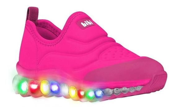 Tênis Infantil Feminino Bibi Roller Rosa Pink Led 1079072