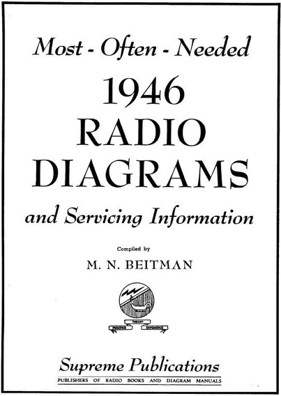 Esquemas De Radio Antigo 1946 Vintage