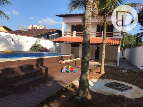 Imagem 1 de 13 de Casa Com 3 Dormitórios À Venda, 250 M² Por R$ 1.330.000,00 - Indaiá - Bertioga/sp - Ca4115