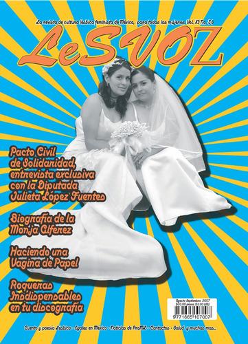 Imagen 1 de 1 de Revista Lesvoz #36, 2007, Cultura Lésbica Feminista