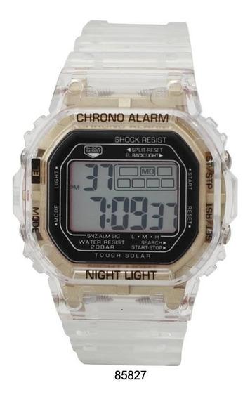 Reloj Milano Lcd Transparente Expressions
