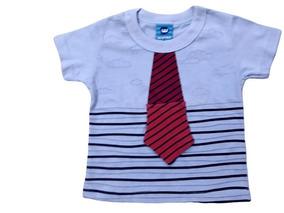Camiseta Tam. P M G Bebê Manga Curta Menino