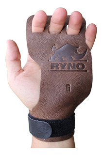 Luva Protetor Hand Grip Crossfit Pull Up Couro 3 Dedos Ryno