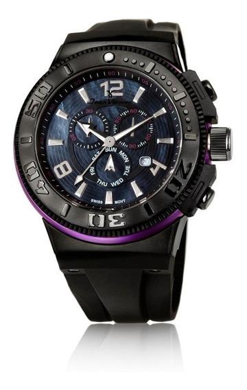 Relógio Jean Vernier Caixa Aço E Pulseira Silicone 10atm