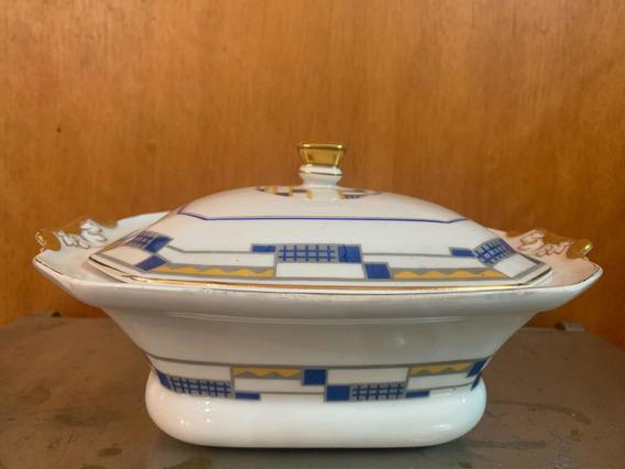 Guisera O Sopera De Loza Art Deco Limoges Antigua