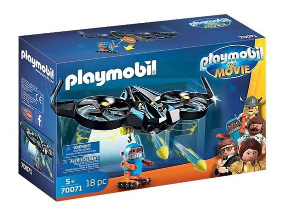 Novo Playmobil O Filme Robotitron Com Drone 70071