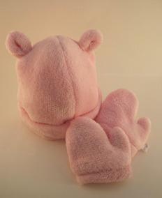 Kit Gorro E Luva Infantil Liso Rosa, Vermelho E Pink