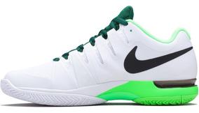 Tênis Nike Zoom Vapor 9.5 Tour Federer - Branco E Verde