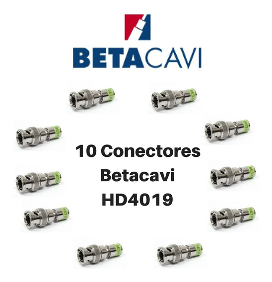 10 Conectores Betacavi Hd 4019