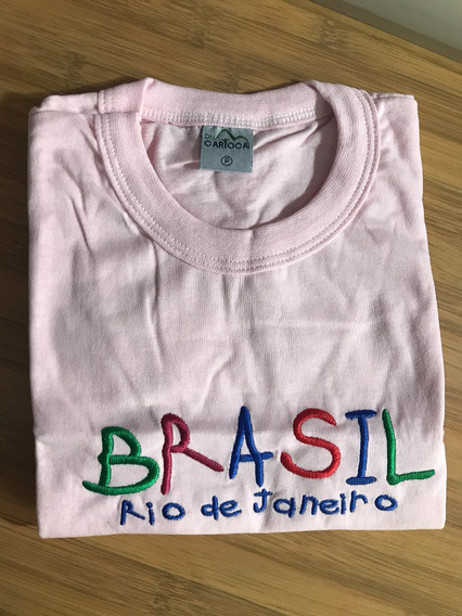 Camiseta Infantil Rosa Sol Rio De Janeiro Dna Carioca Tam P
