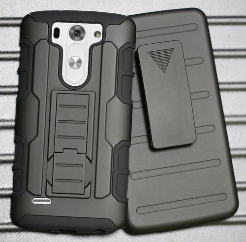 Case LG G3 Beat Mini D722 D725 Armor C/ Clip Gancho Holster
