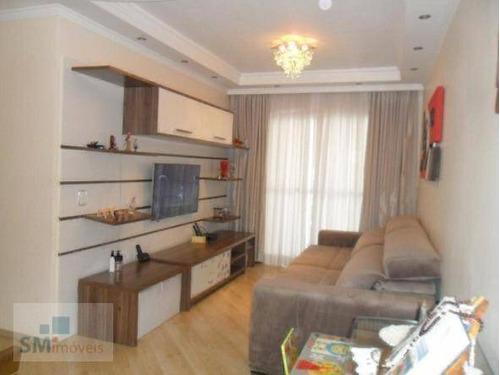 Apartamento Com 2 Dormitórios À Venda, 76 M² Por R$ 498.000,00 - Santa Paula - São Caetano Do Sul/sp - Ap2534
