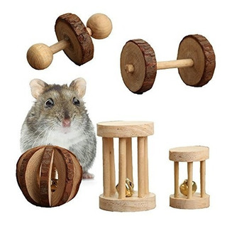 Pack De 5 Hamster Chew Toys Pino De Madera Nat