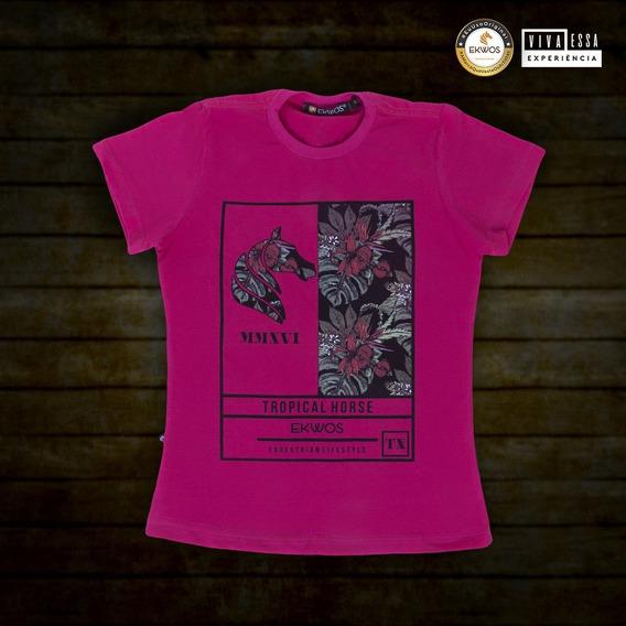 Camiseta Blusa Ekwos Fem Tam P 100% Original