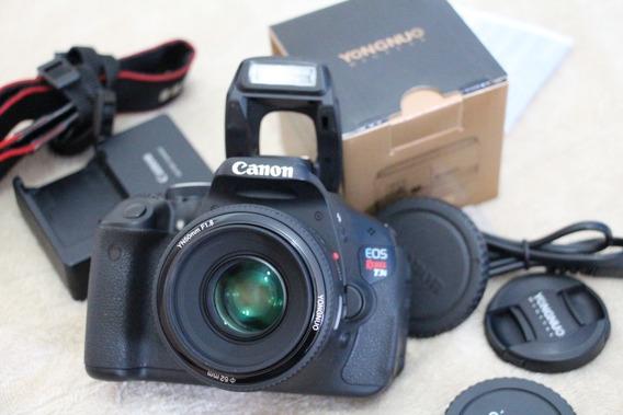 Camera T3i Com Lente 50mm 1.8 Ef . 12x Sem Juros !