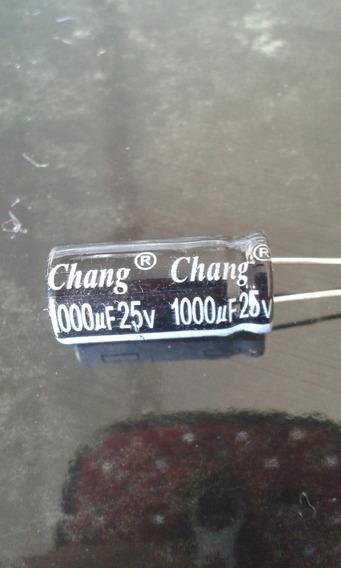 Capacitor Eletrolítico 1000uf 25v 20 Peças Por 8 Reais!!!!