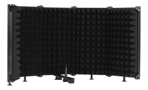 Imagen 1 de 6 de Escudo De Aislamiento De Micrófono Sonido Portátil De Mesa